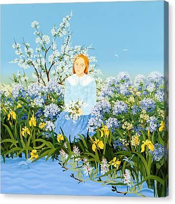 Angelical Canvas Print - At The Shore Of Dreams by Magdolna Ban