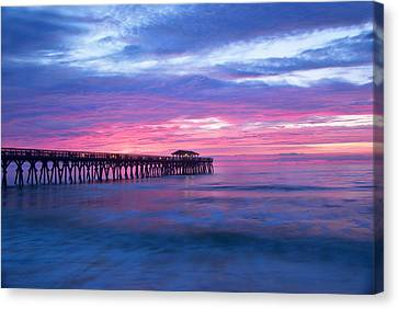 Myrtle Beach State Park Pier Sunrise Canvas Print