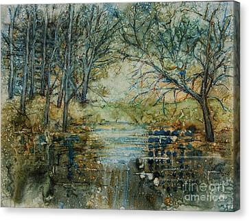 At The Stream Canvas Print by Janet Felts