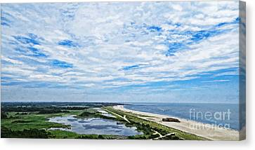 At The Top Of The Lighthouse Canvas Print