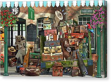 At The Train Station Canvas Print by Garry Walton
