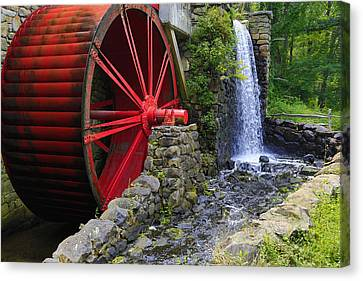 At The Wayside Inn Gristmill Canvas Print by John Hoey