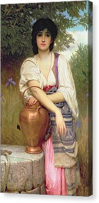 At The Well Canvas Print by Charles Edward Perugini