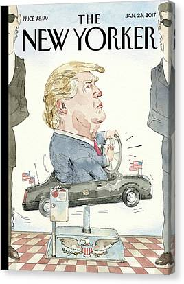At The Wheel Canvas Print by Barry Blitt