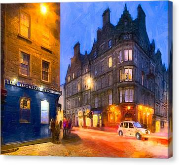 At The World's End In Edinburgh Canvas Print by Mark E Tisdale