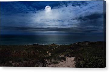 Atlantic Moon Canvas Print by Bill Wakeley