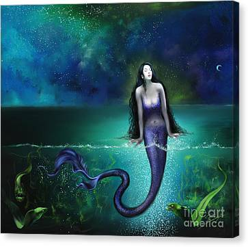 Canvas Print featuring the painting Atargatis by S G