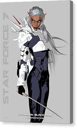 Science Fiction Canvas Print - Atharian Blackstar Print #2 by Donnie Maynard Christianson