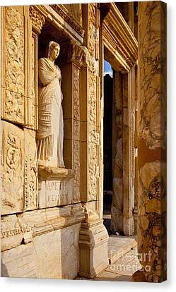 Library Of Celsus Canvas Print - Athena At Ephesus by Brian Jannsen