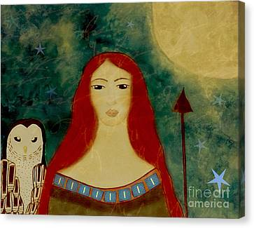 Wiccan Canvas Print - Athena Greek Folk Goddess by Sacred  Muse