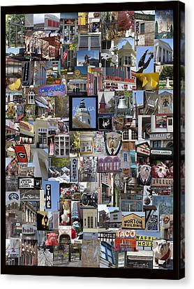 Athens Collage Canvas Print by Sally Ross