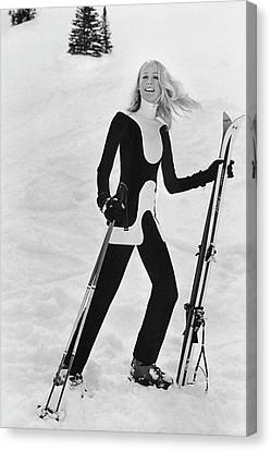 Athlete Suzy Chaffee Canvas Print by Toni Frissell