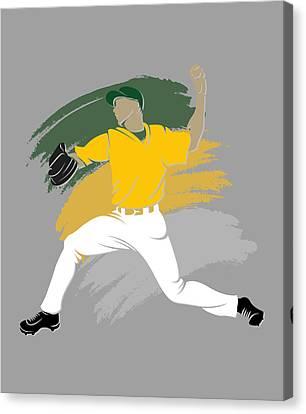 Athletics Shadow Player Canvas Print