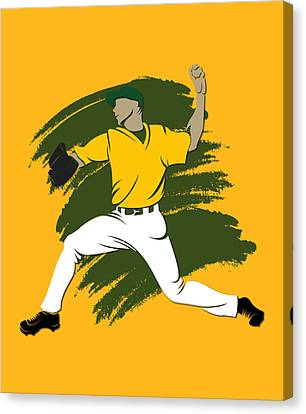 Athletics Shadow Player3 Canvas Print