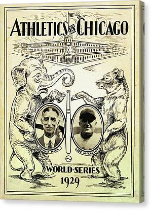 Connie Mack Canvas Print - Athletics Vs Chicago 1929 World Series by Bill Cannon