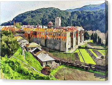 Athos Holly Place 1 Canvas Print by Yury Malkov
