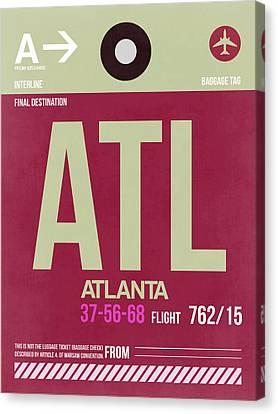 Atlanta Airport Poster 2 Canvas Print by Naxart Studio