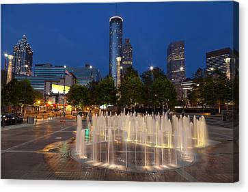 Atlanta By Night Canvas Print