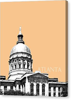 Atlanta Capital Building - Wheat Canvas Print by DB Artist