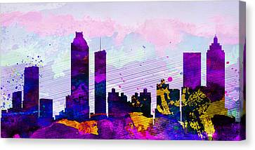 Atlanta City Skyline Canvas Print by Naxart Studio