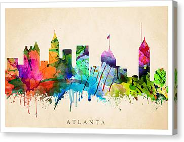 Atlanta Cityscape Canvas Print