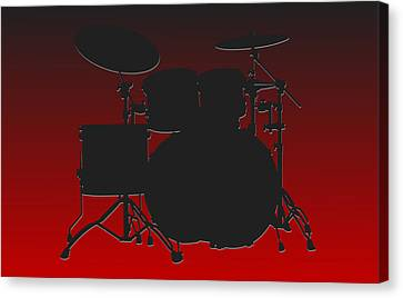 Atlanta Falcons Drum Set Canvas Print by Joe Hamilton
