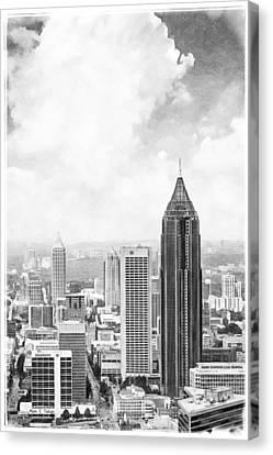 Atlanta From Above Canvas Print