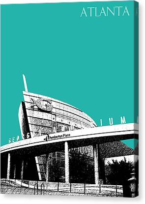 Atlanta Georgia Aquarium - Teal Green Canvas Print by DB Artist