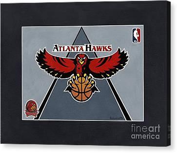 Atlanta Hawks T-shirt Canvas Print