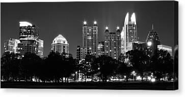 Atlanta In Black And White Canvas Print