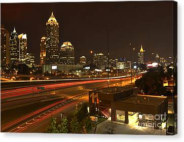 Atlanta Midtown To Downtown Canvas Print