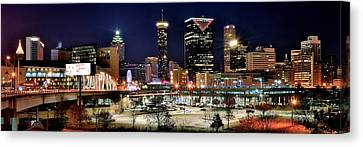 Atlanta Panoramic View Canvas Print by Frozen in Time Fine Art Photography