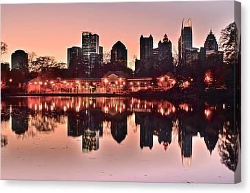 Atlanta Piedmont Pink Canvas Print