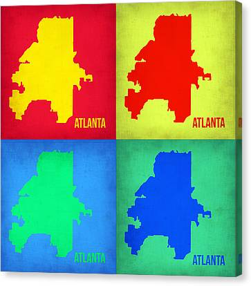 Atlanta Pop Art Map 1 Canvas Print