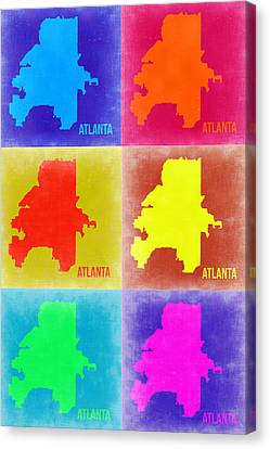 Atlanta Pop Art Map 3 Canvas Print