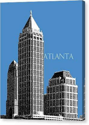 Atlanta Skyline 1 - Slate Blue Canvas Print