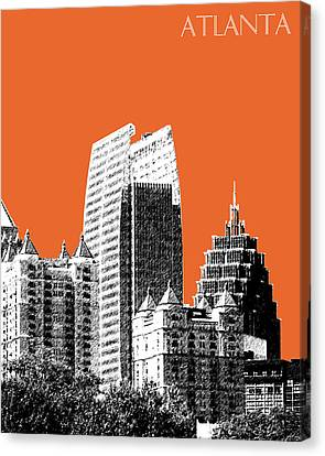 Atlanta Skyline 2 - Coral Canvas Print by DB Artist