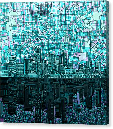 Atlanta Skyline Abstract 2 Canvas Print