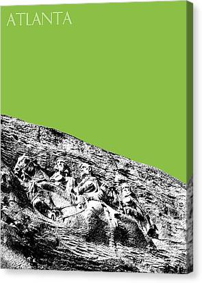 Atlanta Stone Mountain Georgia - Apple Green Canvas Print by DB Artist