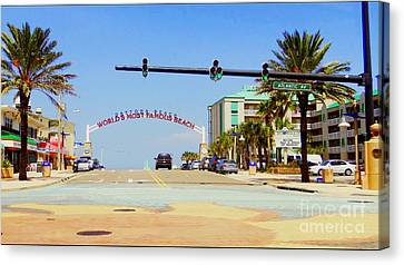 Canvas Print featuring the photograph Atlantic Avenue In Daytona by Jeanne Forsythe