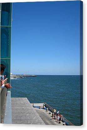 Tanning Canvas Print - Atlantic City - 12128 by DC Photographer