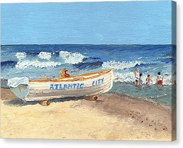 Atlantic City Beach Canvas Print by Arch