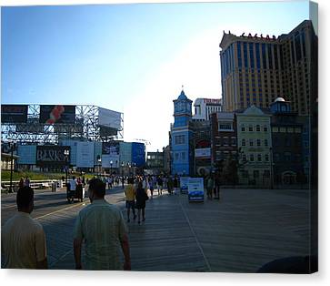 Atlantic City - Boardwalk - 01139 Canvas Print