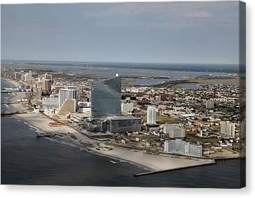 Atlantic City Poster Canvas Print
