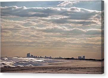 Atlantic City Skyline II Canvas Print by Elsa Marie Santoro