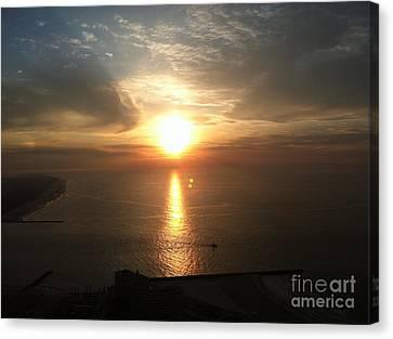 Atlantic City Sunset Canvas Print by John Telfer