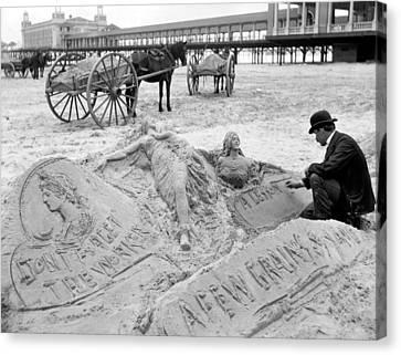 Atlantic City The Sandman Canvas Print by Granger