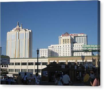 Atlantic City - Trump Taj Mahal Casino - 12123 Canvas Print by DC Photographer