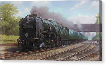 Atlantic Coast Express Canvas Print by Mike  Jeffries