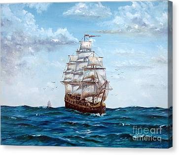 Atlantic Crossing  Canvas Print by Lee Piper